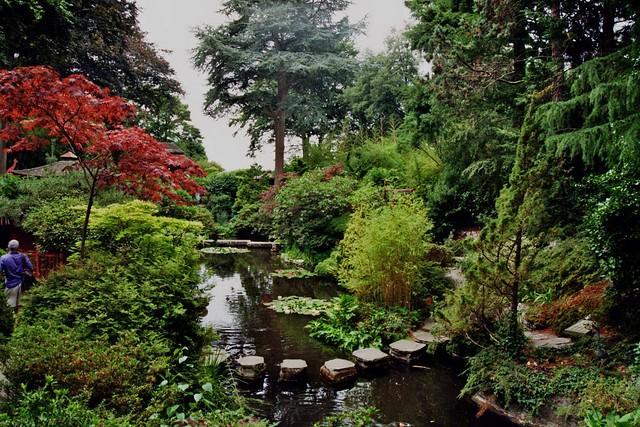 Jardin Japonais Compton Acres Poole Dorset Angleterre