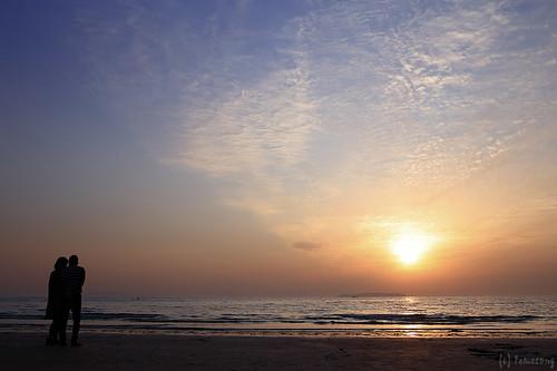 Sunset at Miyajihama Beach