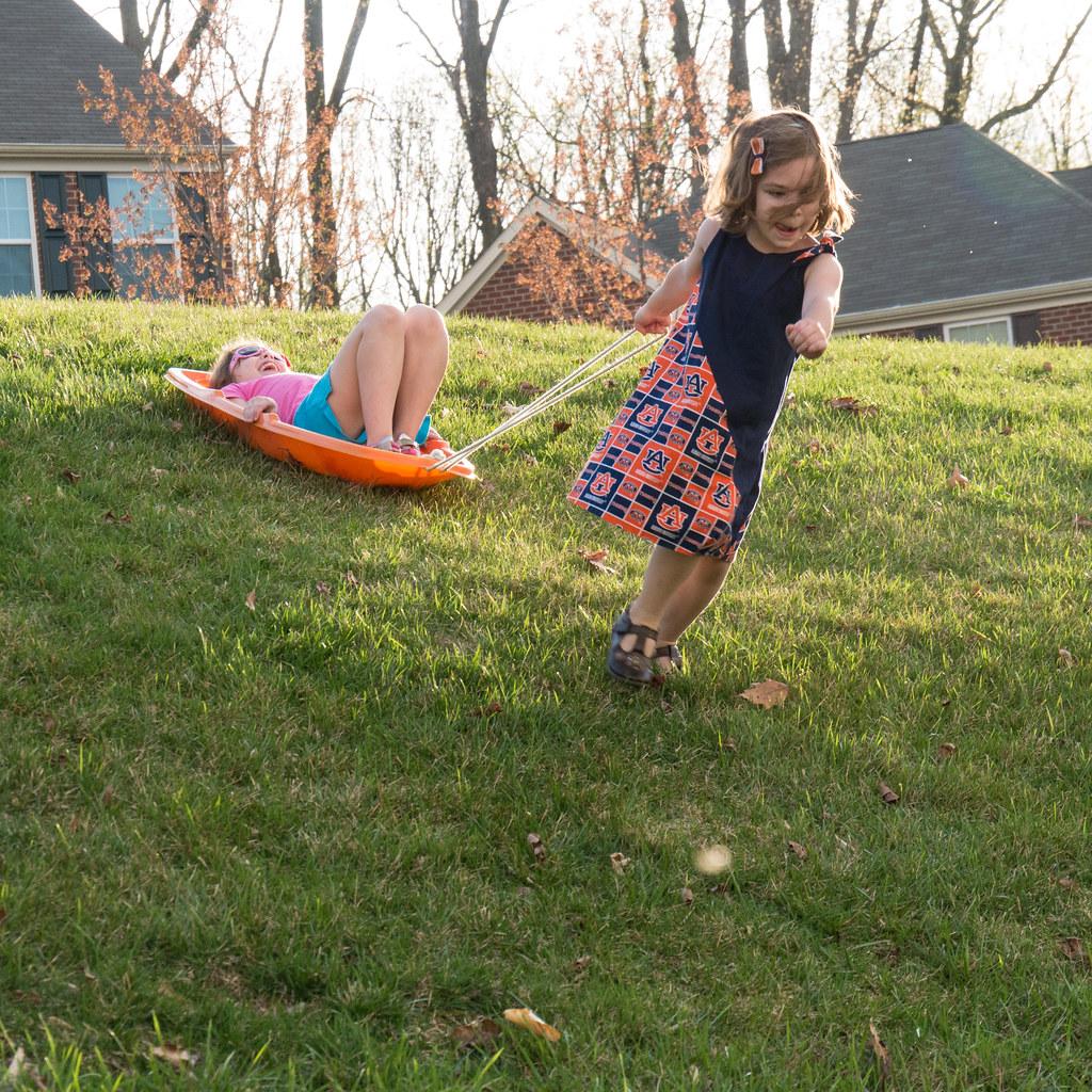 Grass sledding