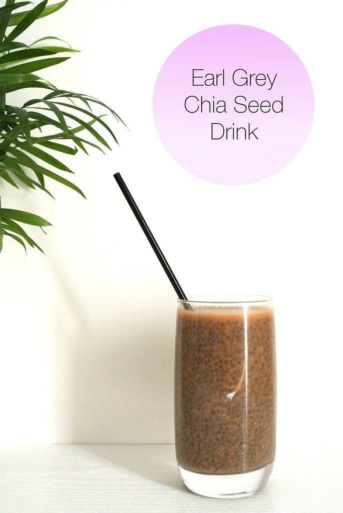 Refreshing Earl Grey Chia Seed Drink