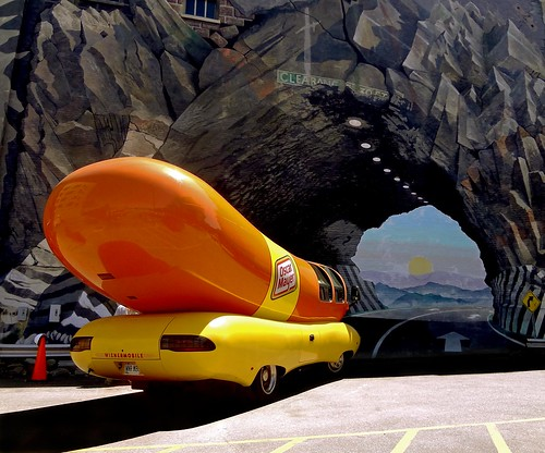 Sometimes a Wienermobile going into a tunnel mural is just a Wienermobile going into a tunnel mural. (Wienermobile versus Bluex Sky)