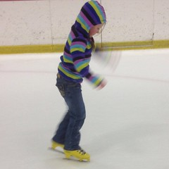 I got a better shot of Tea without the support. She did really good too. #iceskate #skate