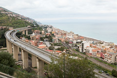 Letojanni with road from Hotel Olimpo balcony