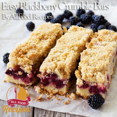 Easy Blackberry Crumble Bars