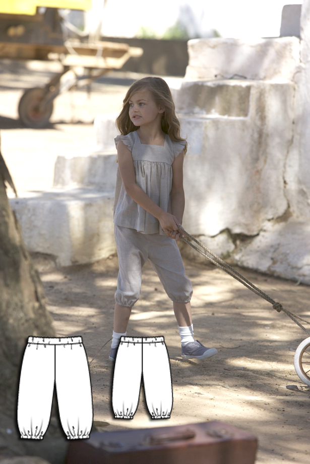 Girls shorts sewing pattern 147 052010