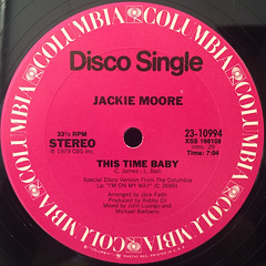 JACKIE MOORE:THIS TIME BABY(LABEL SIDE-A)