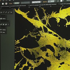 On my screen right now. I'm working with some gorgeous black and gold textures #wip