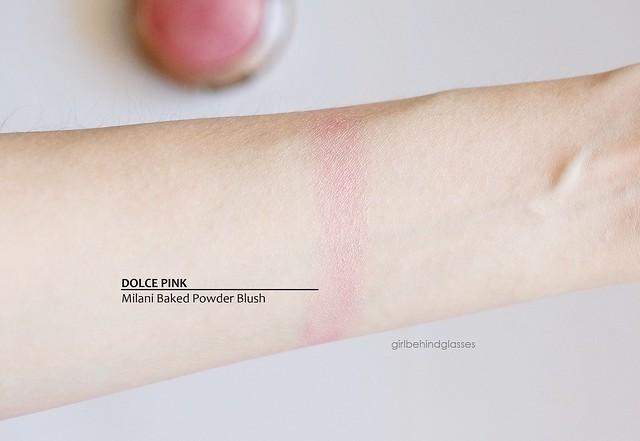 Milani Baked Powder Blush Dolce Pink swatch