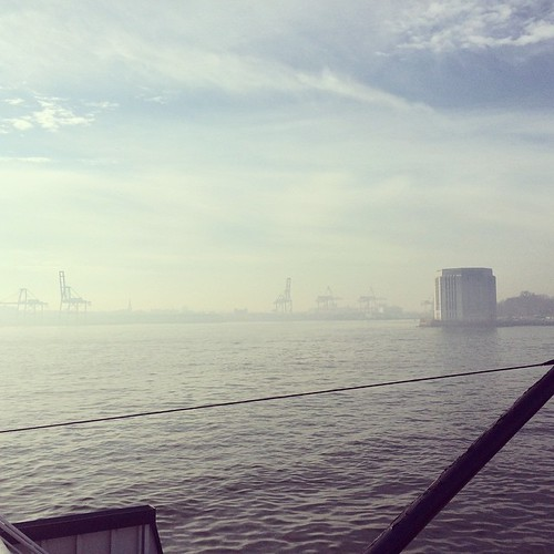 Cranes, approaching Governors Island