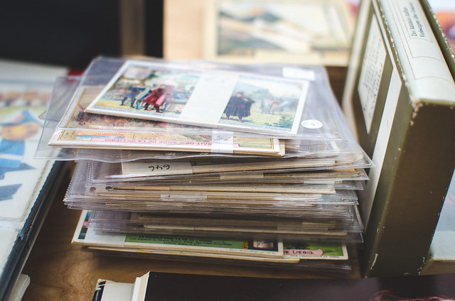 Piles of Postcards