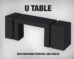 Black UTable -matching pedestals with black reveal