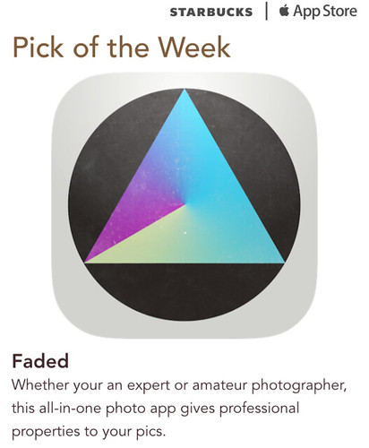Starbucks iTunes Pick of the Week - Faded
