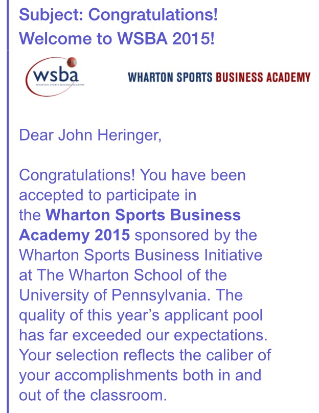 Wharton Sports Business Academy