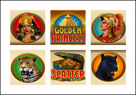 free Golden Princess slot game symbols