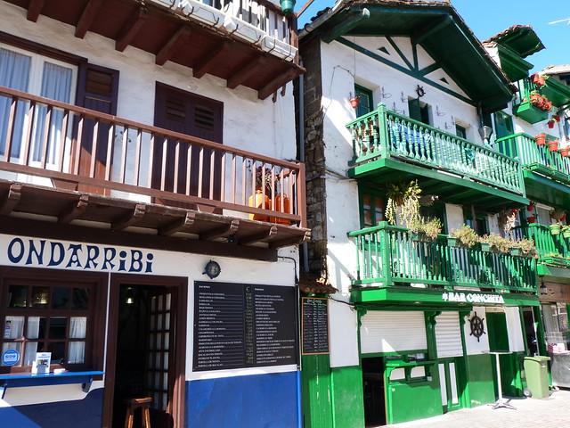 Casas típicas de Hondarribia (País Vasco)