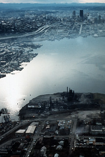 Aerial of Lake Union, 1973