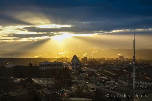 city light sun sunrise schweiz switzerland licht warm suisse sony basel stadt sonne sonnenaufgang basle baselstadt warmes andreaspeters dscrx100ii rx100ii rx100m2 dscrx100m2