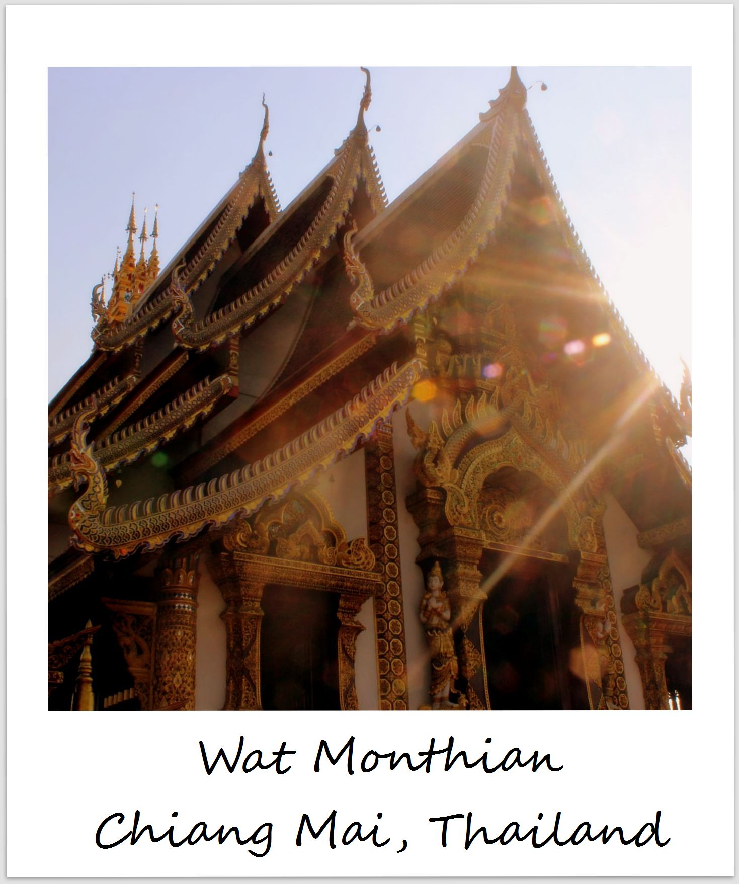 polaroid of the week thailand chiang mai monthian temple