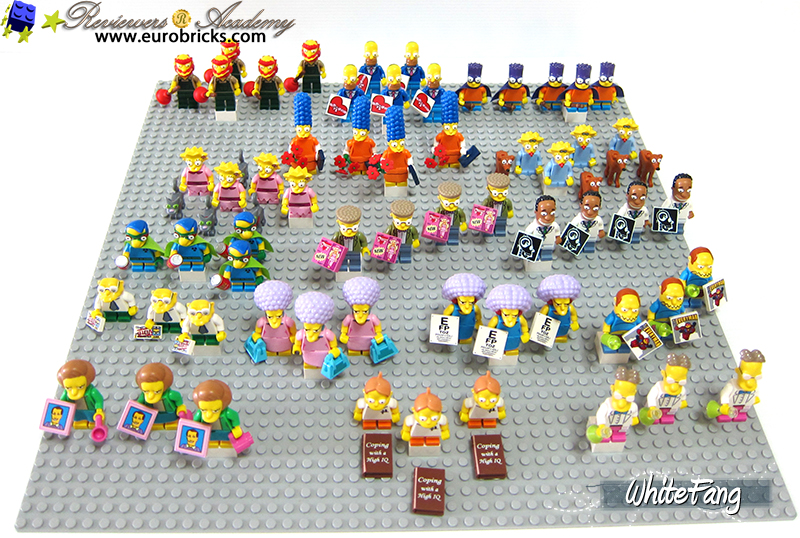 COMPLETE SET OF SIMPSONS SERIES 2 Bauanleitung LEGO