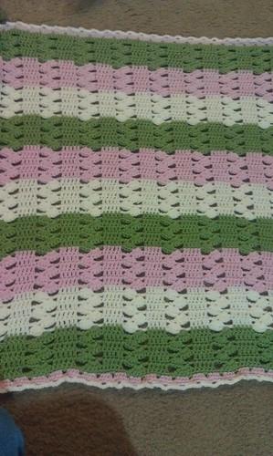 Light Amp Lacy Crochet Baby Blanket