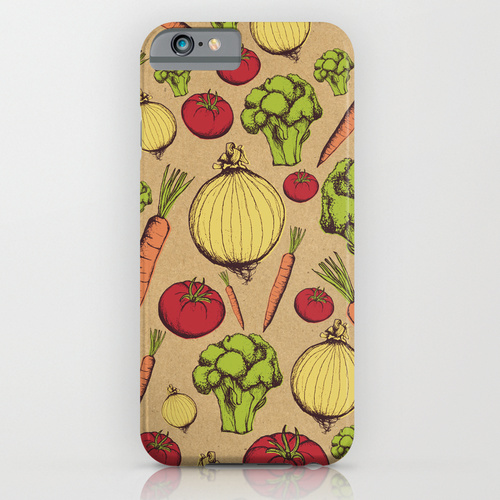 vegetables-print-phone-case
