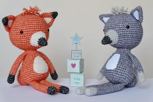 Crochet Wolf and Fox