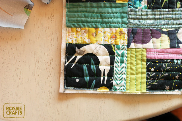 Emerald and Orchid Quilt by Rossie