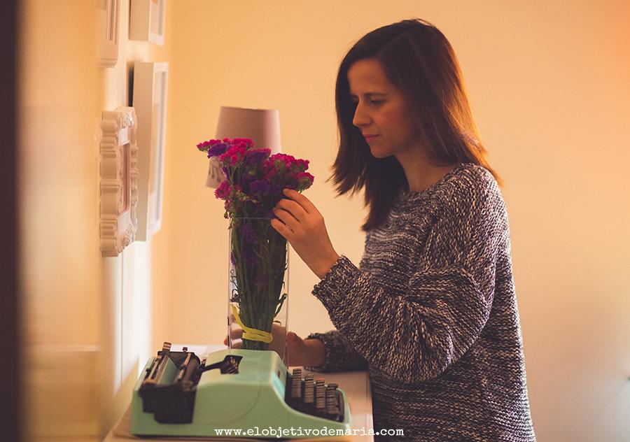 Flores en casa...