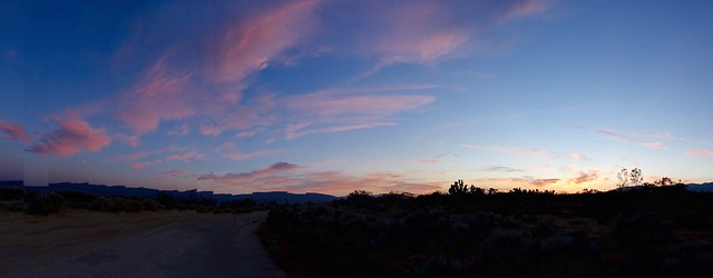 PCT sunset, m526