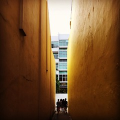 Follow the yellow cement wall. #singapore #joochiat #gallivanting