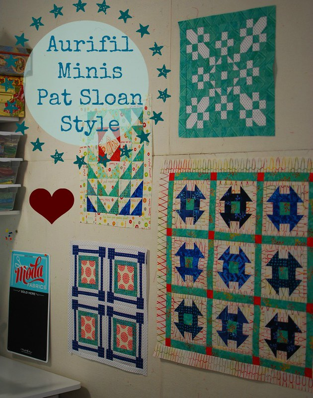 pat sloan jan to april aurifil minis