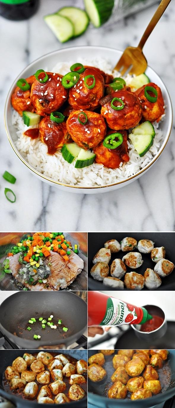 Sweet & Sour Meatballs (Gluten Free) | www.fussfreecooking.com
