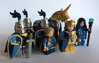 King, Wizard, Page and Knights