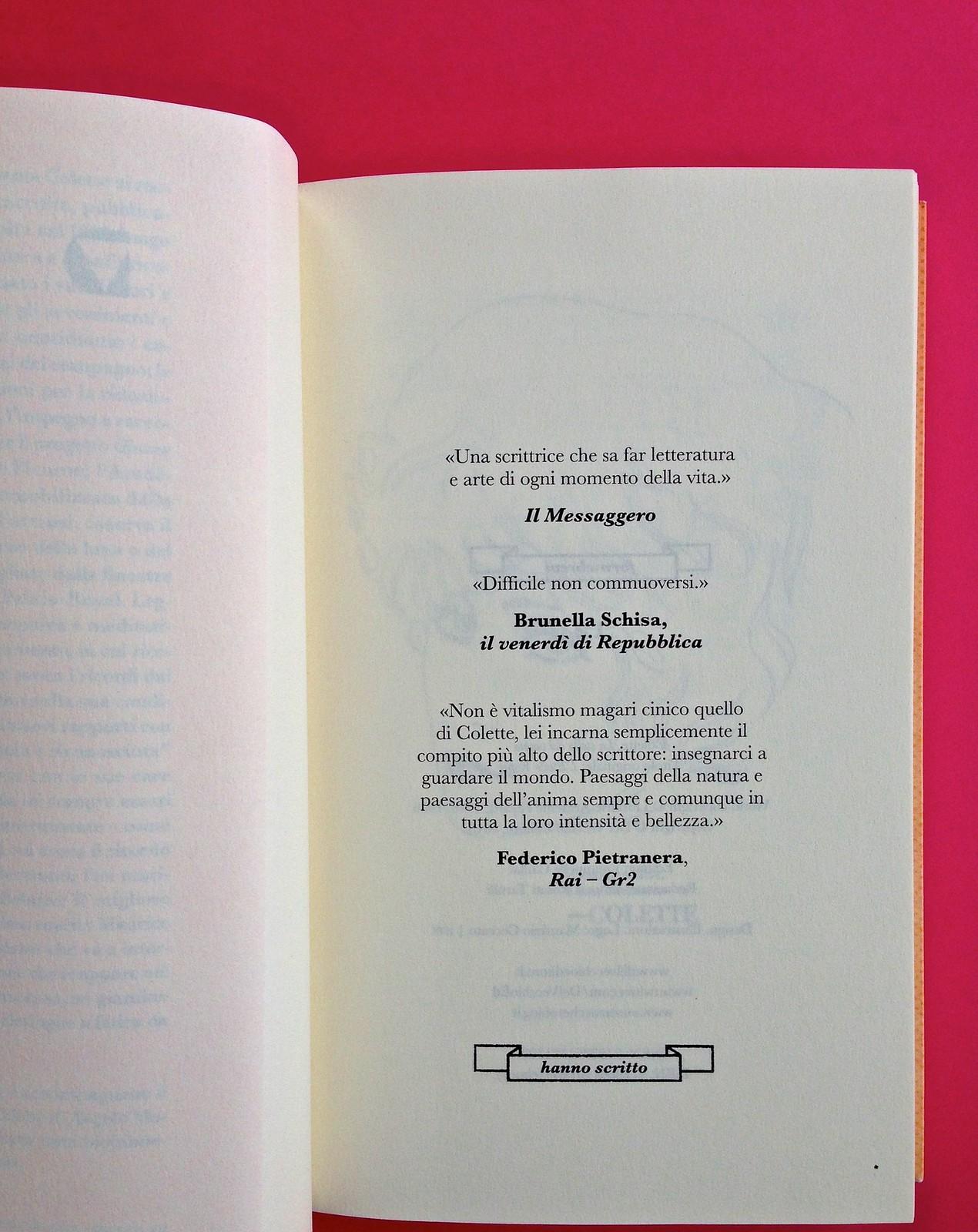 La stella del vespro, di Colette. Del Vecchio Editore 2015. Art direction, cover, illustrazioni, logo design: IFIX | Maurizio Ceccato. Blurb, a pag. 3 (part.), 1