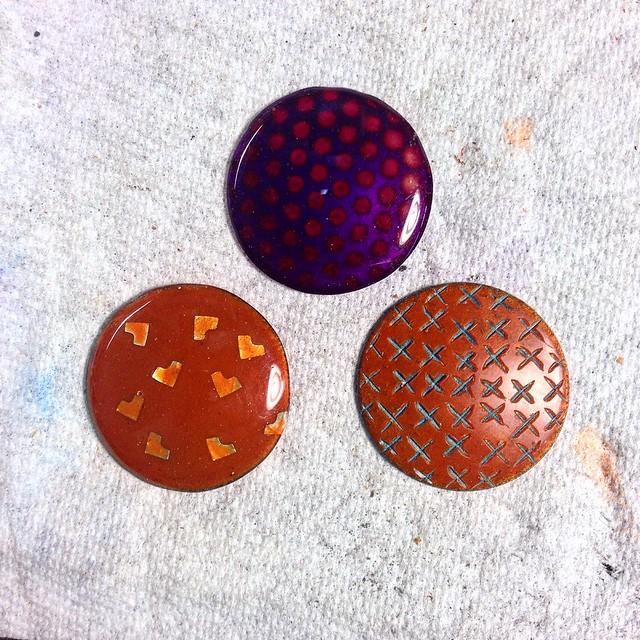 Powder coating samples