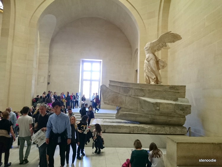 The Winged Victory of Samothrace on display in the Louvre