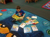 Reading Pete the Cat on the Pete the Cat Rug