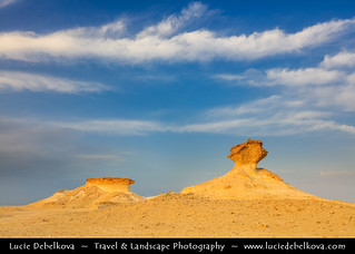 Qatar - Bir Zekreet Desert - Mushroom Rock Formation