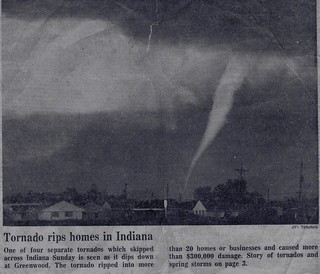 Tornado rips homes in Indiana