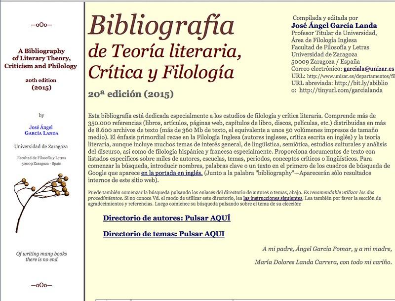 20ª edición de la Bibliografia - español