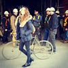 The streets of Toronto with @onlyjosefines #toronto #ontario #Canada #street #fun #workers #construction #bike #modelofduty  #model #hair #smiles