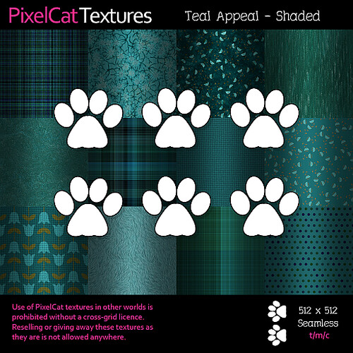 PixelCat Textures - Teal Appeal - Shaded