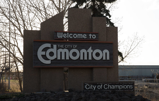 Edmonton Entrance Sign