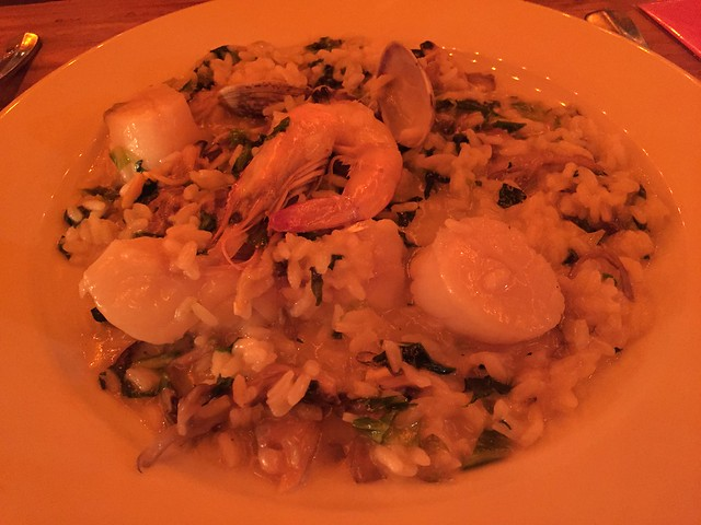 Venetian style fish and shellfish risotto - Foreign Cinema