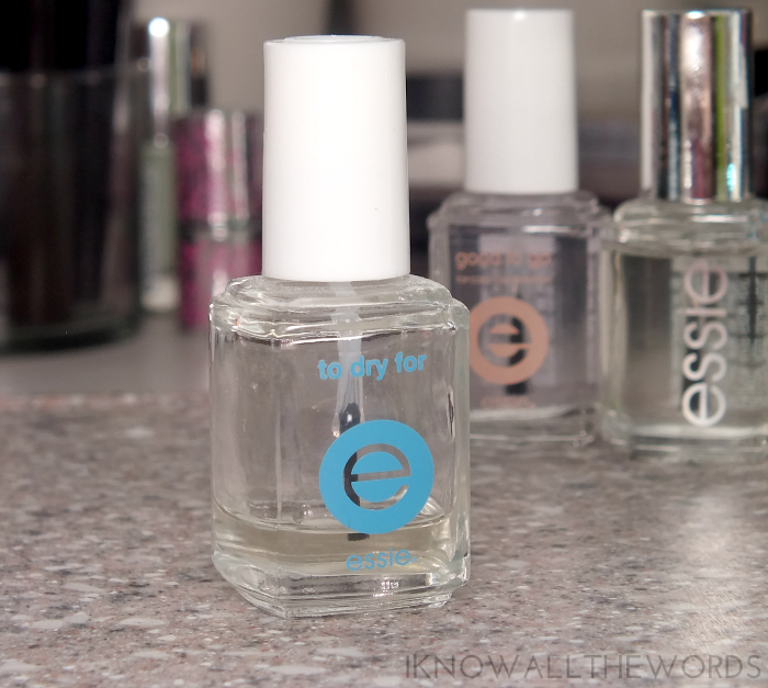 essie top coat comparison- essie to dry for