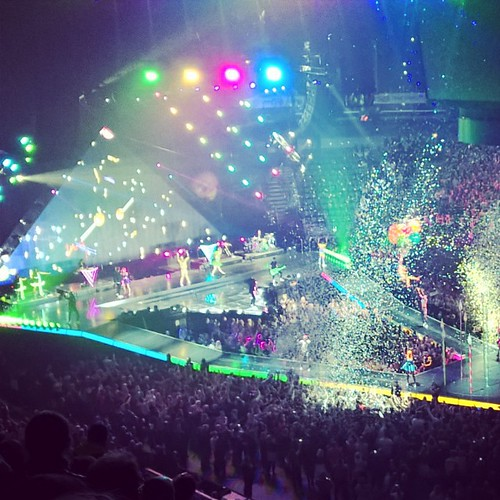 View from the gods. #katyperry #Helsinki #hartwallareena - she's on the balloons. Good show..