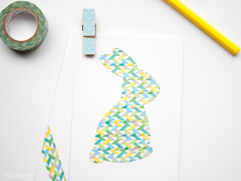 washi tape easter card