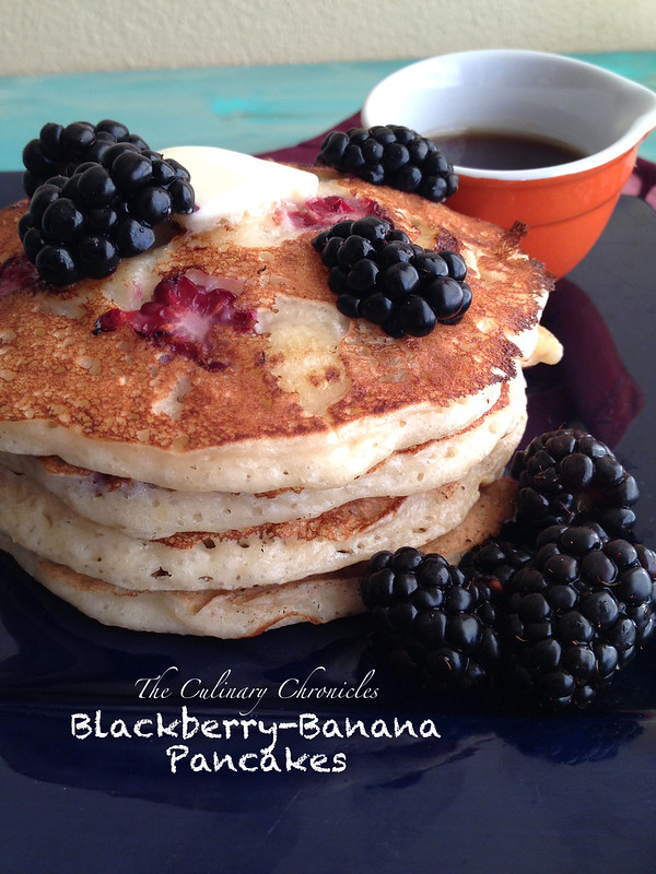 Blackberry-Banana Pancakes