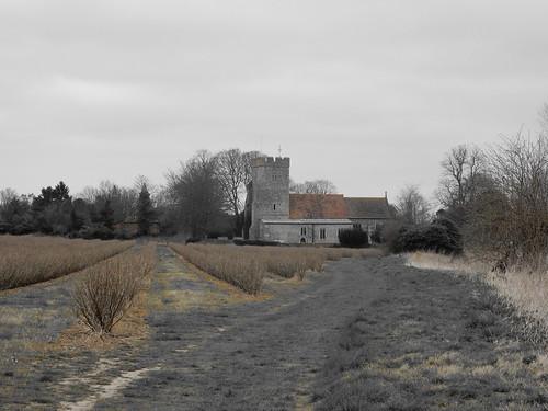 Approaching Whickhambreaux Church