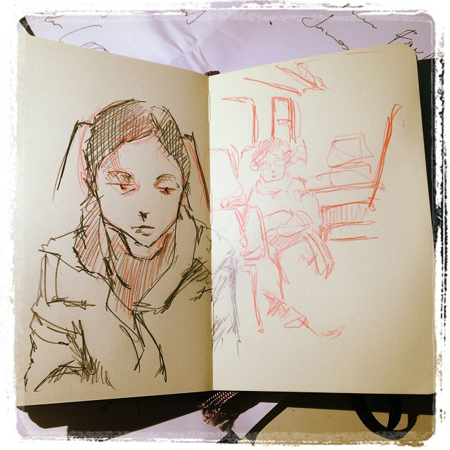 #train #urbansketch